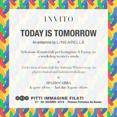 The key word is synergy. At Pitti Filati Lineapelle to present a creative research hub