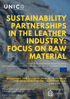 "WORKSHOP ""SUSTAINABILITY PARTNERSHIPS IN THE LEATHER INDUSTRY:  FOCUS ON RAW MATERIAL"""