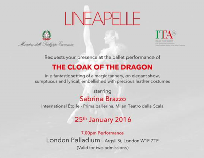 """The cloak of the dragon""  - London, 25th January 2016"
